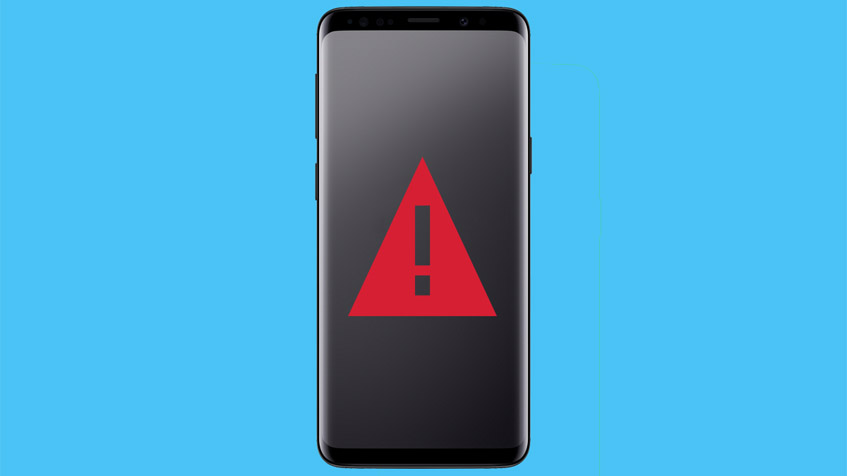 crash-warning-on-a- galaxy-s9-screen